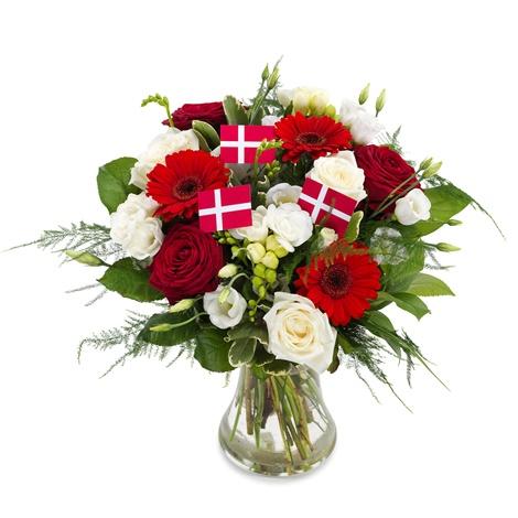 Blomst bestilt på nettet til fødselsdag