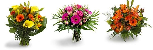 Eksempler på blomster der kan sendes til udlandet