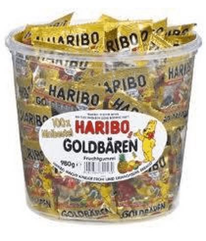 Haribo miniposer - Guldbamser