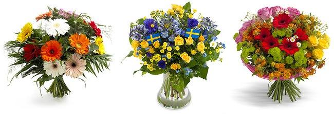 Et udvalg af de blomster du kan sende til Sverige