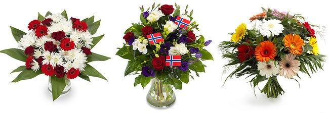 Udsnit af blomster du kan sende til Norge