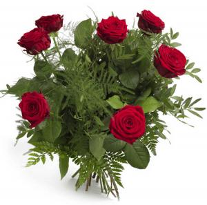 Medium buket røde roser